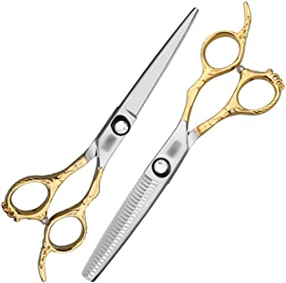 Professional Barber 6-inch Hairdresser Professional Hairdressing Set High-end, Professional Custom Flat Shears + Tooth Sci...