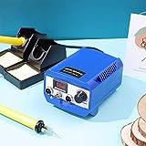 SEAAN Macchina per pirografia,kit di combustione a legna,controllo della temperatura regolabile,per cuoio e zucca in legno (60 W,2 penne, 20 punte per pirografia,doppia porta,display digitale)