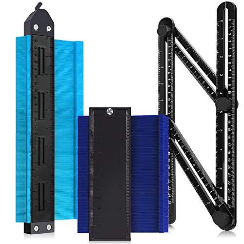 Konturenlehre,Formkontur Duplikator mit Sperrfunktion,Multifunktionales Messwerkzeug mit Skala Unregelmäßiges für präzise Messung (Blau)