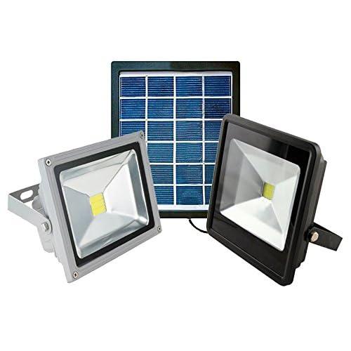 FG - Foco LED con panel solar para iluminación externa, con batería integrada de 2000