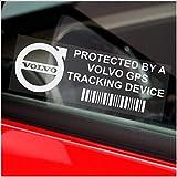 Lote de 5 pegatinas de ventana Volvo GPS, seguridad, 87 x 30 mm, S40,C30,V70,V40,XC60