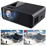 Rosvola 3D Mini Projektor, tragbarer 1080P LED Smart Projektor LED Smart Projektor Heimkino 480P 110V-240V Schwarz(EU)