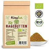 Bio Hagebuttenpulver (1kg) | ganze Hagebutte gemahlen | 100% ECHTES Bio Hagebutten...
