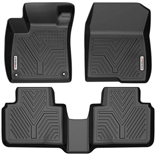 the floor mats YITAMOTOR Floor Mats Compatible with Honda Accord, Custom Fit Floor Liners for 2018-2021 Honda Accord, 1st & 2nd Row All Weather Protection, Black