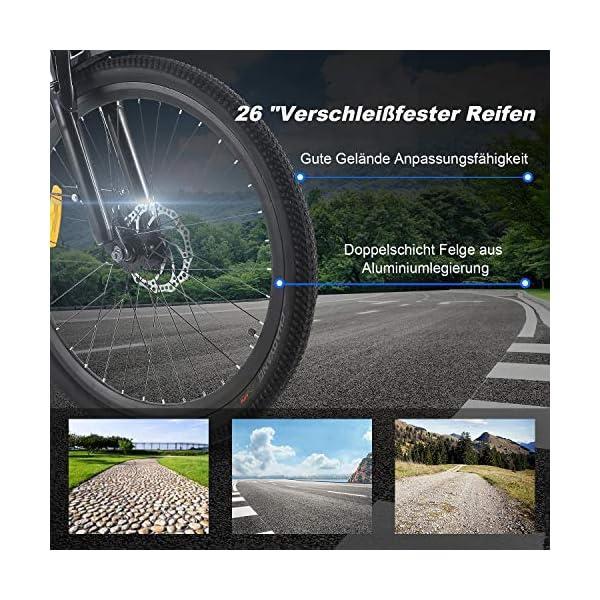 514AHLCYfGL. SS600  - ANCHEER 26 Zoll City E-Bike mit 250W Motor 6-Gang-Getriebe, Elektrofahrrad Pedelec mit 36V 12.5AH Abnehmbarer Lithium Akku 30 Meilen