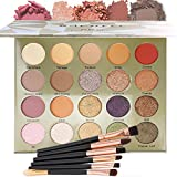20 Colors Eyeshadow Palette Set, Matte And Shimmer Glitter Powder Eye Shadow, Glitter Makeup Kit With 6 makeup brushes, Long Lasting Waterproof Professional Eyeshadow Palettes for Women Make Up