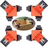YANGYOU 4pcs Corner Clamps for Woodworking, 90°Right Angle Fixer Corner Clamps Woodworking Locator for Welding Wood-Working Making Cabinets