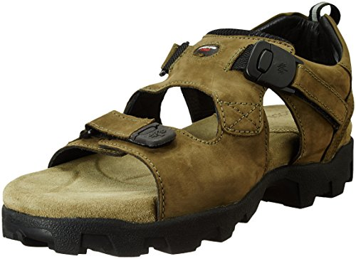 Woodland Men's Olive Green Leather Sandals -8 UK (42 EU) (GS 4011CMA)