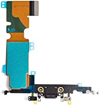 Afeax OEM Charging Port Dock Connector Flex Cable + Microphone + Cellular Antenna + Vibration Motor Connector Replacement Part Compatible iPhone 8 Plus 5.5