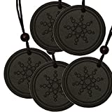 NAKABH Black Scalar Energy Quantum Science Fusion Lava Stone Pendant for Men and Women (Pack of 5)