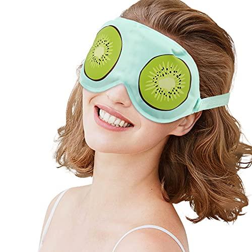 Hilph® Maska na oczy żelowa, migrenna, chłodząca maseczka wielokrotnego użytku, maska chłodząca do obrzękanych i zmęczonych oczu, terapia cieplna, maska do spania do opuchniętych oczu, suchość oczu i błony głowy