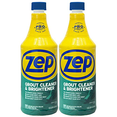 Zep Grout Cleaner and Brightener 32 ounce ZU104632 (Pack of 2) Deep Cleaning Pro Formula