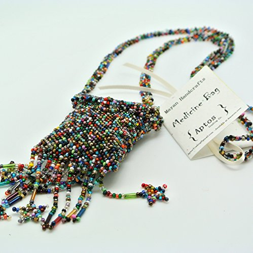 Beautiful Handmade Beaded Medicine Bag/Pouch/Necklace (Rainbow)