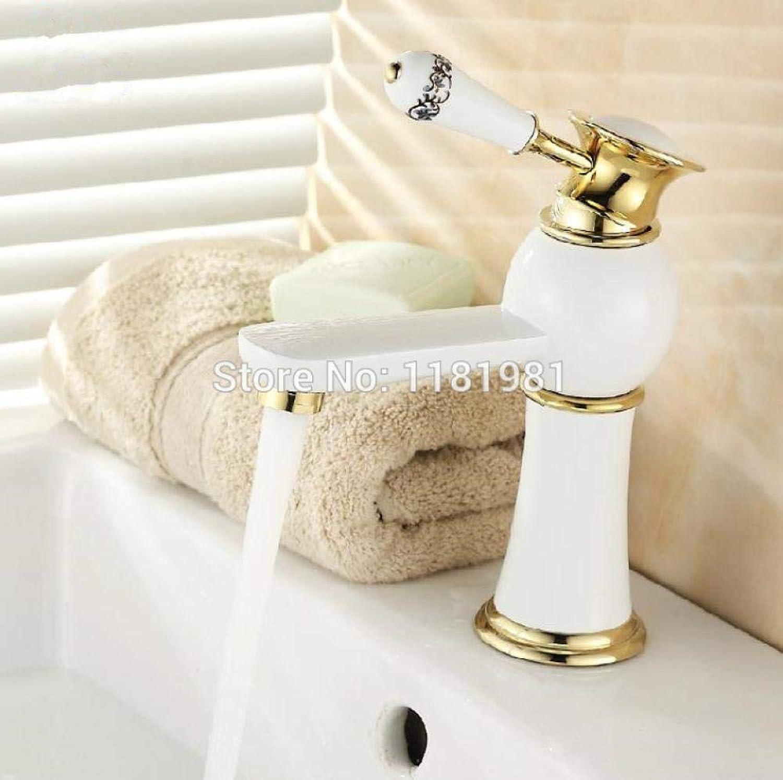 Wasserhahn Hochwertige Mode-Design Bad Waschtischarmatur Messing Material Weiwasserhahn