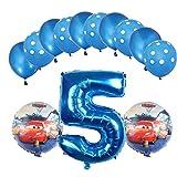 ENXI Globos Mcqueen Ellos 1 Set Autos Lightning 32 Pulgadas Números Balloon Set 13pcs / Set Movilización de automóviles Baby Boy Cumpleaños Fiesta de decoración Suministros ( Color : Light Grey )