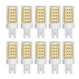 Bombillas LED G9 de 10W Equivalentes a Halógenos de 150W, 86 Piezas LED, 1000 LM, Ángulo de haz de 360°, Ultra Brillante, AC 220-240V, No Regulable, 3000K Blanco Cálido,10 Unidades