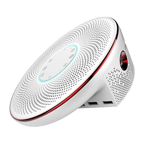 JCOCO Intelligente AI DLP-projector, compatibel met 4000 lumen 5G WiFi Bluetooth HE 2.4 G afstandsbediening, full HD 4K dual stereo draagbare projector, batterij 16000 MA T90S Wit