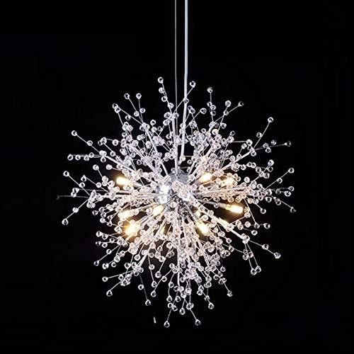 LIUYU Moderna Simple de Diente de león Luces Pendientes Creativa LED de iluminación Individual del Nordic Bola Luminaria Hanglamp (Body Color : Dia50CM 12PCS 36W, Emitting Color : Warm)