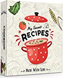 DUCIL Recipe Book Binder - Complete 3 Ring Recipe Binder 8.5x11 Full Page, 50 Page Protectors, 30 Recipe Cards, 72 Labels, 18 Divider for Family Recipe Organizer. Perfect DIY Cookbook Kit