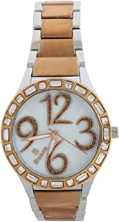 Sunex women's watch, analog, stainless steel, rose gold, white dial, S0373RGW
