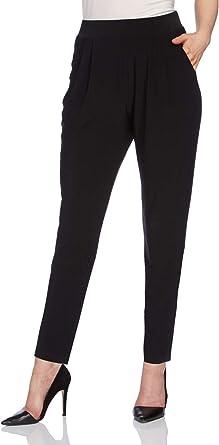 Roman Originals – Pantalón fluido amplio confort elástico – negro