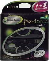 Fujifilm Quicksnap Fashion 400 ISO wegwerpcamera met flitser, 2 x 27 opnamen, zwart