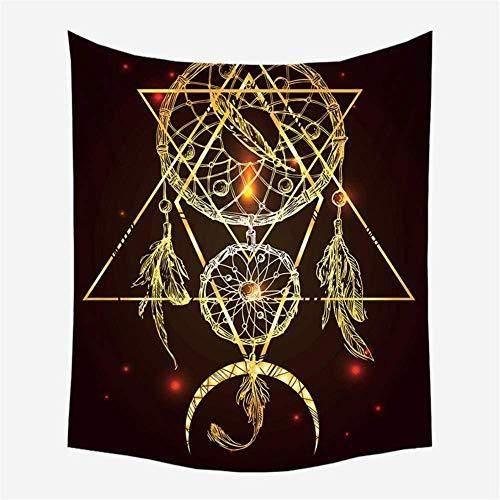 Tapiz Mandala Indio Bohemio Tela de Pared atrapasueños Colgante de Pared Hippie Mantel decoración de Pared -150x200cm