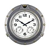"Poolmaster 52538 18"" Silver Porthole Clock"