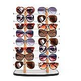 Sunglass Display, Amzdeal Wooden Look Laminate Sunglasses Display Rack, Eyewear Display up to 16 Glasses
