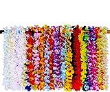 SIROD 36 Piezas Collares Hawaianos Fiesta Guirnaldas de Flores Lei Hawaianas para Decoraciones de Fiesta de Hawaii Fiesta temática de Playa