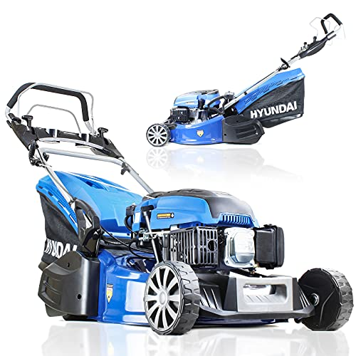 Hyundai Petrol Lawnmower Self Propelled Lawn Mower with Roller for...