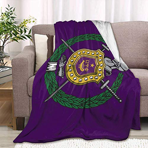 959 Custom Personalized Omega-PSI-Phi Soft Blanket Lazy Quilt Warm Plush Anti-Pilling Sofa Bed Throw Gift for Kids Child Adults 80x60 Inch Twin