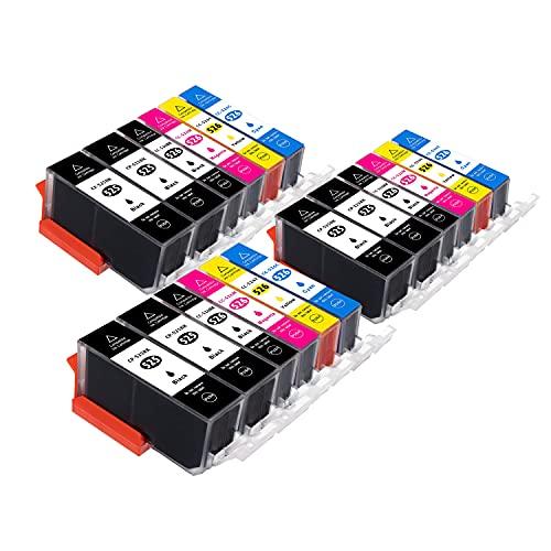 B-T Compatible Cartuchos de Tinta Reemplazo para Canon 525 526 PGI-525 CLI-526 XL para Canon PIXMA MG5150 MG5350 MG5250 IX6550 MX885 MX895 MX715 IP4950 IP4850 MG6150 (18 Pack)