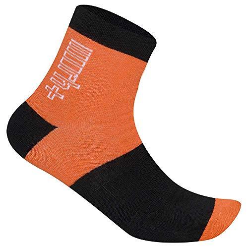 Zero RH+ 10, Bike Sock Unisex – Adulto, Orange/Black/White, S/M