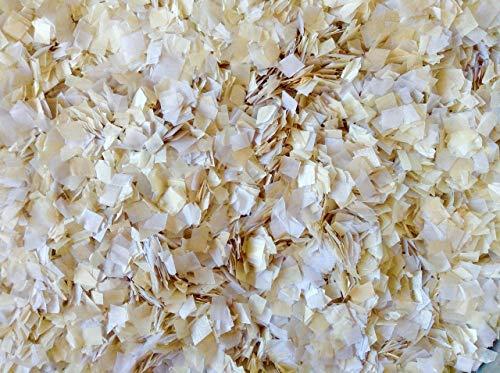 White Cream Ivory Wedding Confetti Biodegradable Eco Environmentally Friendly Tissue Paper Flower Basket Aisle Decorations Decor InsideMyNest (60g/2oz)