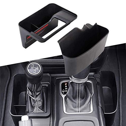 iBàste GearTray Schaltkonsole Seite Aufbewahrungsbox Auto Transmission Seite Organizer Fach für Jeep Wrangler JL JLU & 2020 Gladiator JT