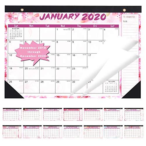 2020 Schreibtischkalender November 2019 - Dezember 2020 Lehrer Monatlicher Schreibtisch-Kalender Akademisches Jahr, 43,2 x 30,5 cm, 14 Monate liniert