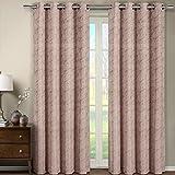 <span class='highlight'><span class='highlight'>eLuxurySupply</span></span> 2 Piece Tabitha Jacquard Grommet Window Treatment Curtain Panels Drapes 108x84 - Blush