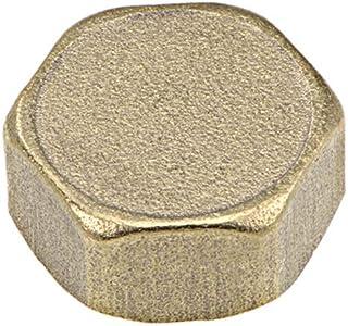 Sourcingmap - Conector de válvula de compresión hexagonal de 1/2 pulgadas, casquillo de latón G1/2 hembra, 11 x 23 mm