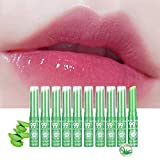 10 Stück/Satz Aloe Vera Lippenbalsam Farbwechsel Farbe Lippenstift Color Changing Lipgloss (10 PCS)