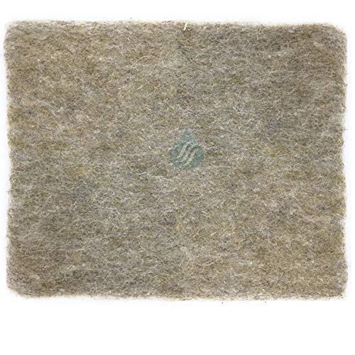 Solution Ahead - 1 Filtre universel en Fibres Naturelles de Lin - Absorbe les Graisses | 47X57cm Adaptable par Simple Découpe | 100% Compostable