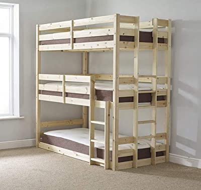 Strictly Beds and Bunks Limited - Triple Sleeper, 3ft Single