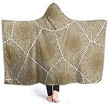 wanglinbin11 Abstrakte natürliche geometrische Flanell Fleece Hoodie Decke Throw Wearable Cuddle Super weich warm gemütlich für die ganze Saison