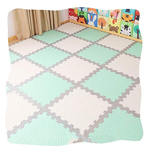 YANGJUN Puzzle Tapis Mousse Bébé Non-Slip Waterproof Protection Beauty Seam Easy to Clean Color Mixing Thicken 4 Combinations (Color : D, Size : 60x60x2.5cm-6PCS)