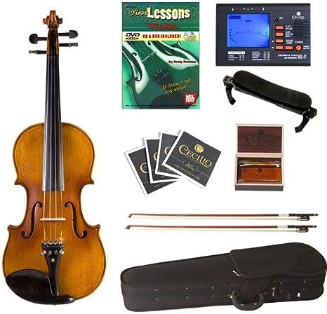 Cecilio CVN-500 Antique Flamed Ebony Violin