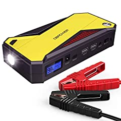POWERFUL & COMPACT: Jump start your vehicle (up to 7.2L gas or 5.5L diesel engine) up to 20 times with 800 amps of peak current and heavy duty clamps and cables. Compact enough to store in your glovebox. SMART CHARGING PORT: With 18000mAh capacity an...