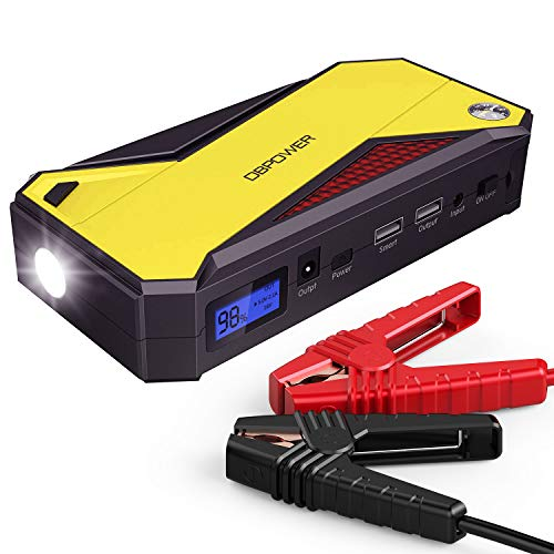 Best Review Of DBPOWER 800A Peak 18000mAh Portable Car Jump Starter (up to 7.2L Gas, 5.5L Diesel Eng...