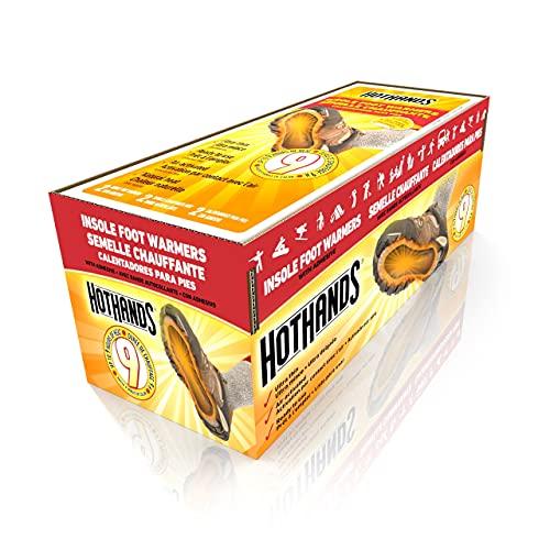 HotHands Fußwärmer für Einlegesohlen, langlebig, sicher, natürlich, geruchlos, luftaktiviert, bis zu 9 Stunden Wärme, 16 Paar, schwarz