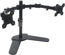 Bramley Power Dual Monitor Screen Brazo de montaje en escritorio Soporte VESA doble para pantalla de computadora o TV doble de 13