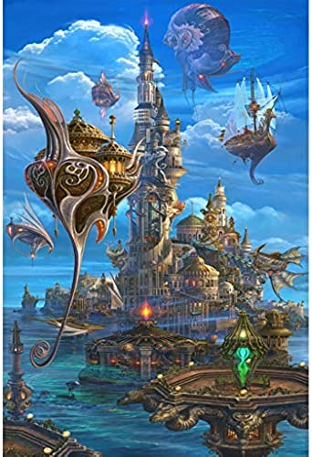 Puzzle House- MagPT Magical World Illustration, Holzpuzzle, Dreamland Dragon und Dungeon Fine Cut & Fit 5005000pc Boxed Toys Game Art für Erwachsene & Kinder -410 (Farbe   C, Größe   4000pc)